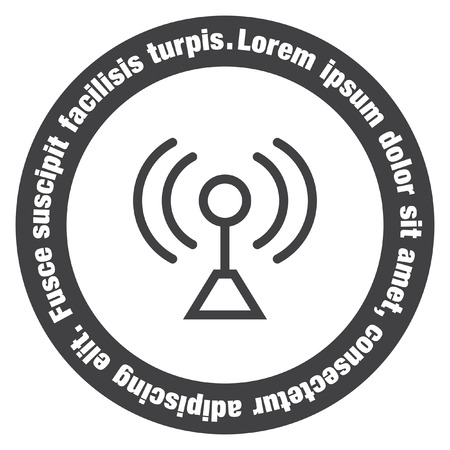 strenght: Signal strengt sign line vector icon. Wi Fi signal vector icon. Wireless connection symbol.