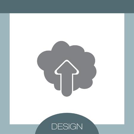 cloud: Cloud Upload vector icon
