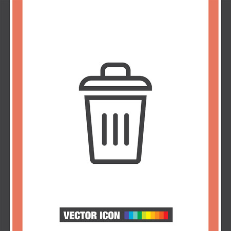 waste basket: Recycle bin vector icon. Garbage sign line vector icon. Trash can vector icon.