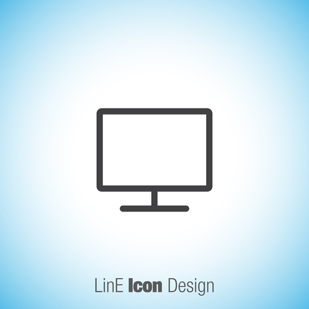 led display: Monitor vector icon. PC screen icon. PC monitor symbol. Led TV sign. Widescreen display symbol. Illustration
