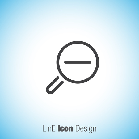 glas: Zoom out sign line vector icon. Magnifying glas vector icon. Search icon.