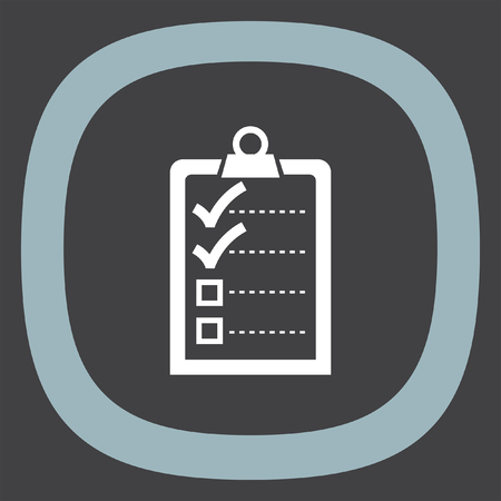 clip board: Check list with two small ok signs vector icon. Clip board with two small ok signs.