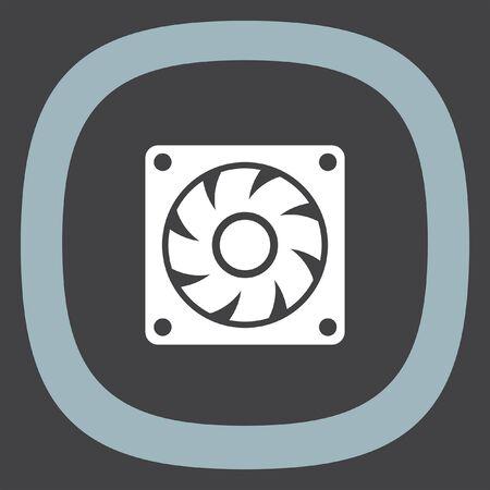 Computer Lüfter Vektor-Symbol. Pc Kühler Zeichen. Luftgenerator ...