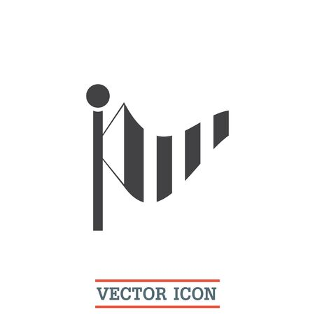 meteorology: Wind speed vector icon. Weather flag sign. Meteorology equipment symbol Illustration