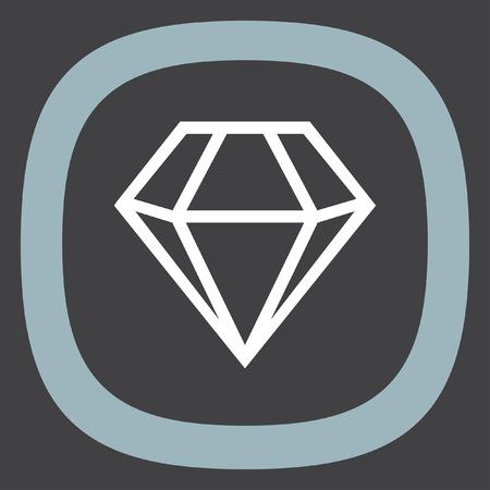 jewerly: Diamond vector icon. Expensive jewerly symbol. Luxury symbol.