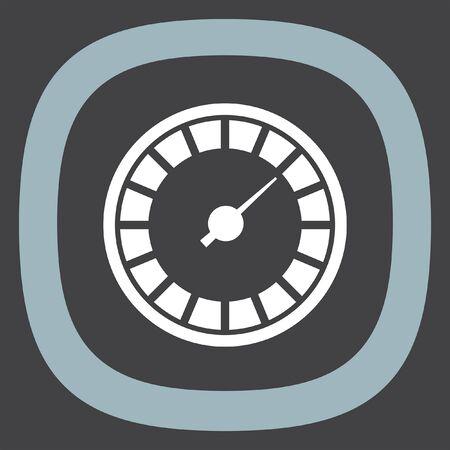 tachometer: Speedometer icon. Gauge sign. Tachometer symbol Illustration