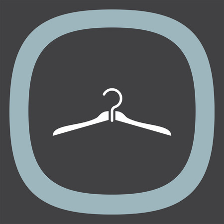 clothing rack: Hanger vector icon. Cabinet sign. Closet symbol