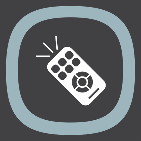 infra: TV remote vector icon. RC controller sign. Television symbol Illustration