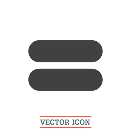 sign equals: Equal sign vector icon. Equality sign. Mathematical sum symbol