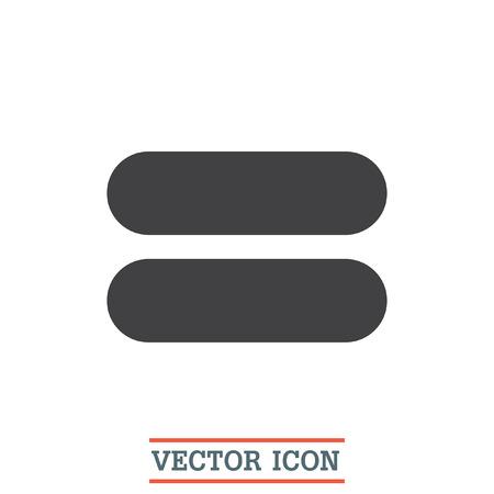 Signo de igualdad de iconos de vectores. signo de igualdad. símbolo de suma matemática Ilustración de vector