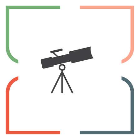 optical instrument: Telescope vector icon. Astronomy optical instrument sign. Spyglass symbol