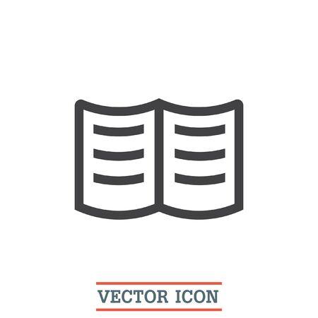 encyclopedias: Book sign line vector icon. Education sign.