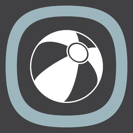 beachball: Beach ball vector icon. Summer vacation symbol.