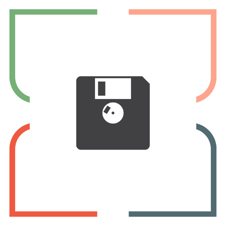 Diskette vector icon. Floppy disk sign. Memory storage symbol
