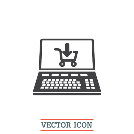 On line shopping vector icon. E commerce sign. Web purchase symbol