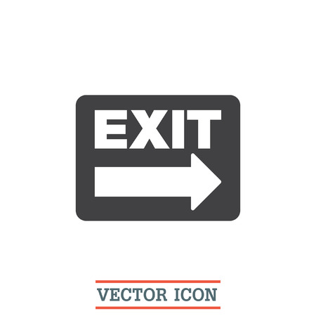 exit sign: Exit sign vector icon. Festival sign. Gate symbol Illustration