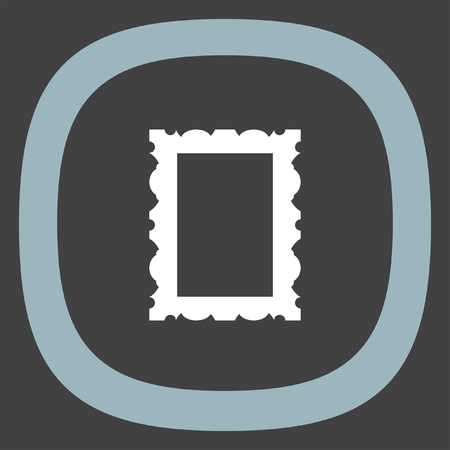 photo icon: Picture frame icon. Photo decoration sign. Gallery symbol