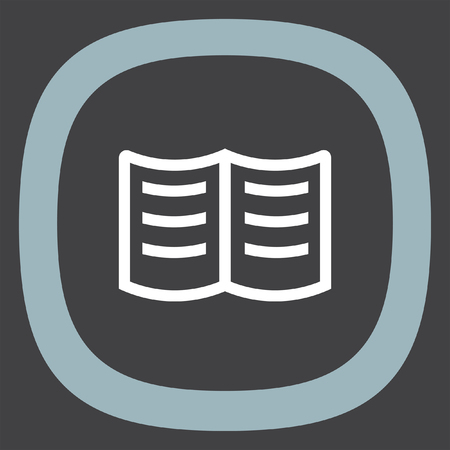 publishes: Book sign line vector icon. Education sign.