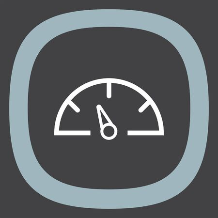 kilometer: Dashboard line vector icon. Speedometer vector icon. Gauge symbol.
