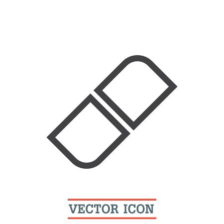 correct: Eraser sign line vector icon. Correct symbol. Edit sign icon. Illustration