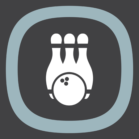 recreation: Bowling Pin vector icon. Leisure game sign. Recreation sport symbol.