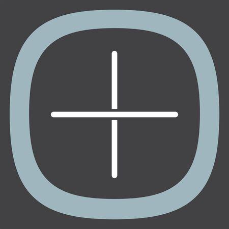 add symbol: Plus sign line vector icon. Add UI symbol.