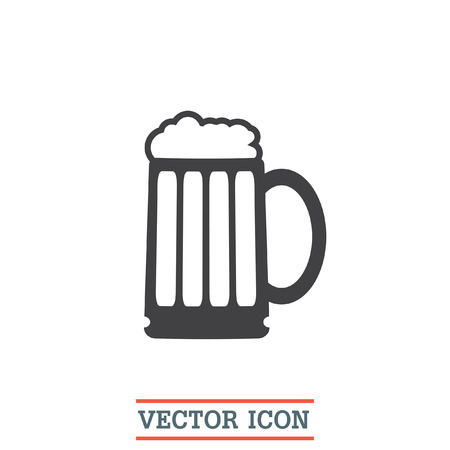 froth: Beer vector icon. Bar sign. Pub symbol. Glass of alcohol drink sign. Brewery symbol.