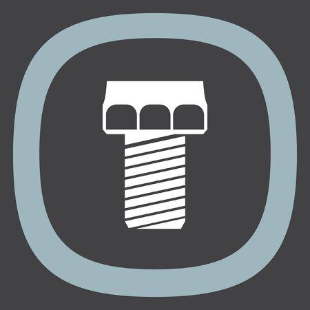 bolt: Screw vector icon. Bolt sign. Nut symbol