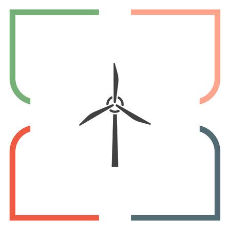 colection: Wind generator vector icon. Windmill sign. Electricity colection technology symbol