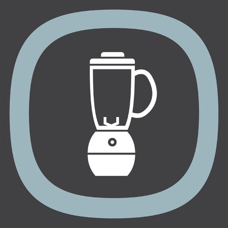 licuadora: icono del vector de la licuadora. Cocina mezclador de zumos. El jugo de fruta signo licuadora. Vectores