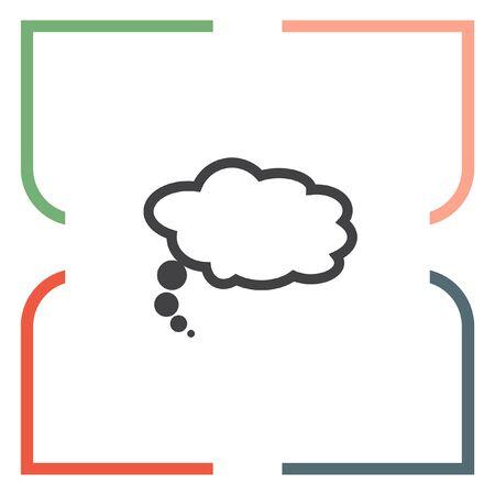 ballons: Speech bubble icon. Idea ballons sign. Dialog symbol Illustration