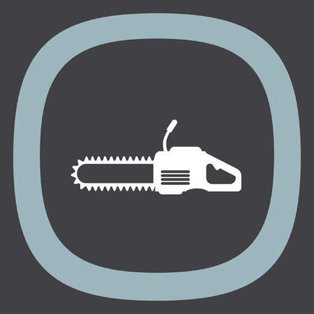 timber: Chainsaw vector icon. Timber industry symbol.