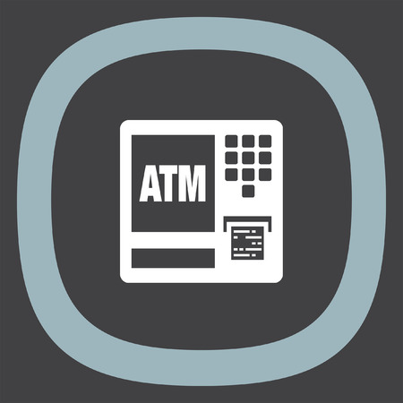 withdrawal: ATM vector icon. Automatic cash withdrawal symbol. Electronic payment icon. Finance sign.