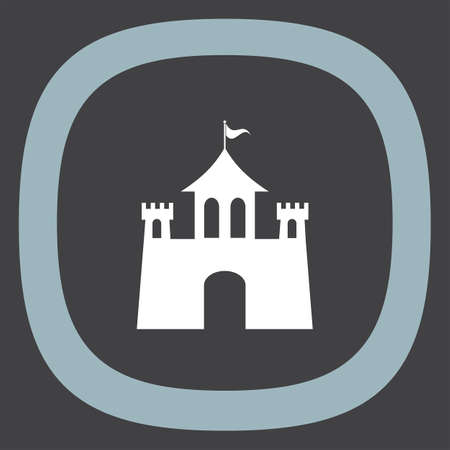 fortress: Castle vector icon. Fantasy fortress sign. Medieval building symbol.