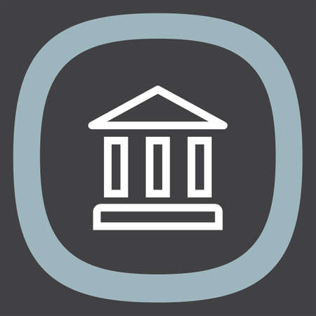 judicial: Bank sign line vector icon. Institution sign vector icon. Illustration