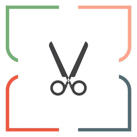 cutting tool: Scissors cut vector icon. Cutting tool sign. Coupon discount symbol Illustration
