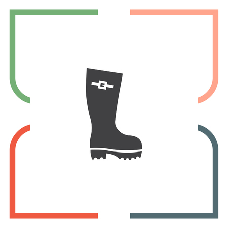 galoshes: Rain boot vector icon. Rubber footwear sign. Gumboot symbol