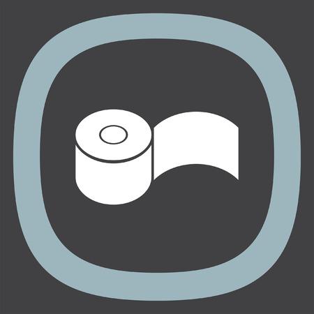 restroom sign: Toilet paper vector icon. Restroom sign. Bathroom symbol Illustration