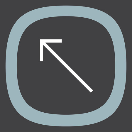 top pointer: Arrow top left sign line vector icon. Direction sign line icon.