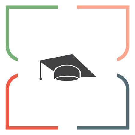 diplomatic: Graduation cap vector icon. Finals sign. Diplomatic hat Illustration
