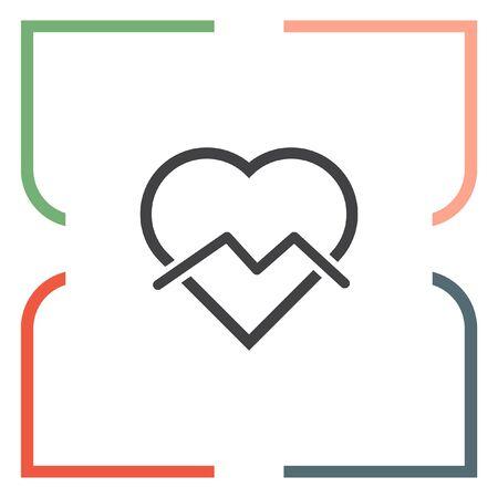 end of the line: Broken heart sign line icon. Divorce sign. End of love vector symbol.
