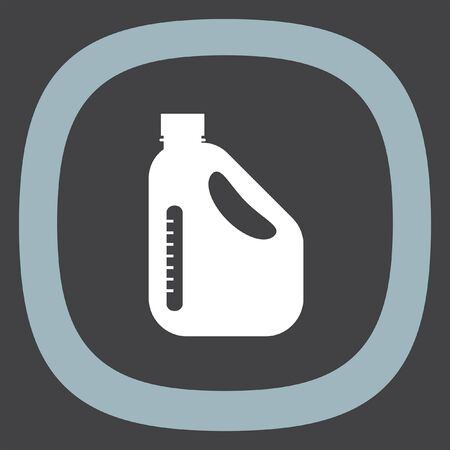 refuel: Jerrycan Oil Can vector icon. Petrol container sign. Fuel can symbol Illustration