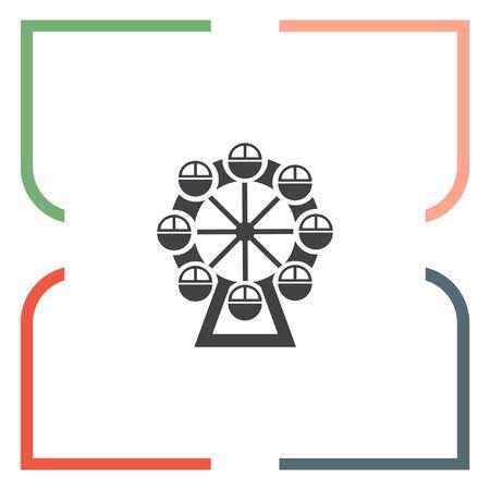 luna: Ferris Wheel vector icon. Amusement park sign. Luna park symbol Illustration