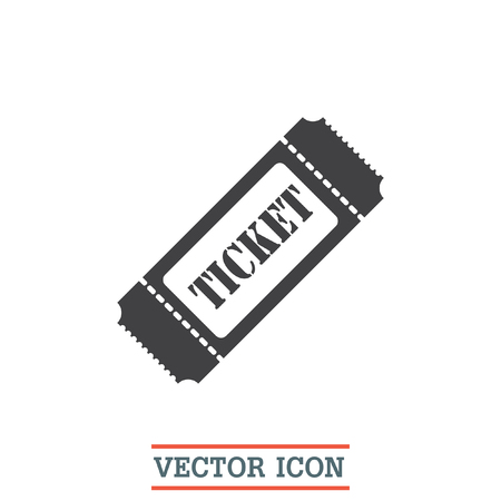 entry admission: Ticket sign vector icon. Coupon sign. Movie or theater symbol.
