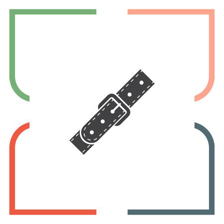 strap: Strap vector icon. Belt sign. Leather belt symbol