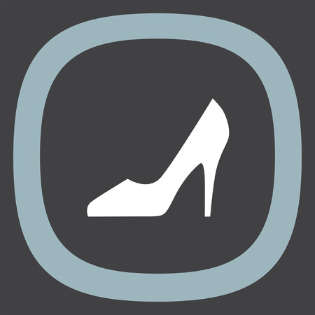 footwear: Woman shoes vector icon. High heels sign. Female classy footwear