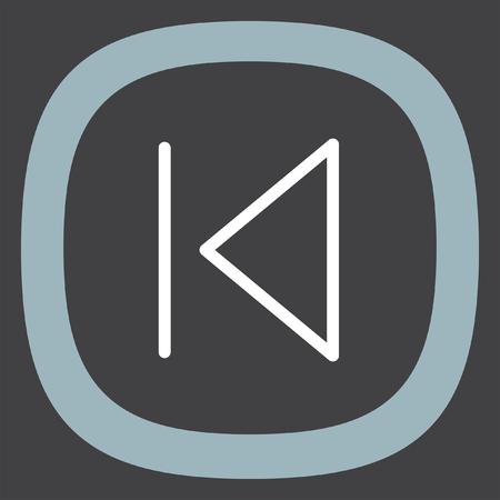 skip: Skip Backward button sign vector icon. UI control Skip Backward button