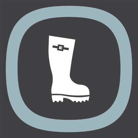 fall protection: Rain boot vector icon. Rubber footwear sign. Gumboot symbol