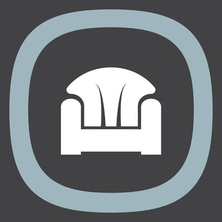 luxury furniture: Sofa vector icon. Furniture sign. Home luxury seat symbol
