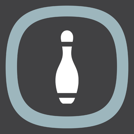 leisure game: Bowling Pin vector icon. Leisure game sign. Recreation sport symbol.